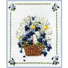 Набор для вышивания Panna Ц-0661 «Корзина с фиалками» 23*26 см