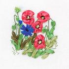 Набор для вышивания Panna Ц-0939 «Маки и васильки» 11*13 см
