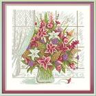 Набор для вышивания Panna Ц-0971 «Лилии у окна» 24*24 см