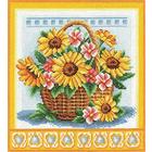 Набор для вышивания Panna Ц-1093 «Корзина с цветам» 21,5*23 см