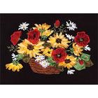 Набор для вышивания Panna Ц-1129 «Букет из рудбекии и маков» 31,5*20,5 см
