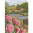 Набор для вышивания Panna Ц-1166 «Пионы в цвету» 25,5*36 см