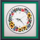 Набор для вышивания Panna Ч-1525 Часы «Цветочные часы» 23,5*24 см