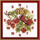Набор для вышивания Panna Ч-1770 Часы «Гроздья рябины» 27*27 см