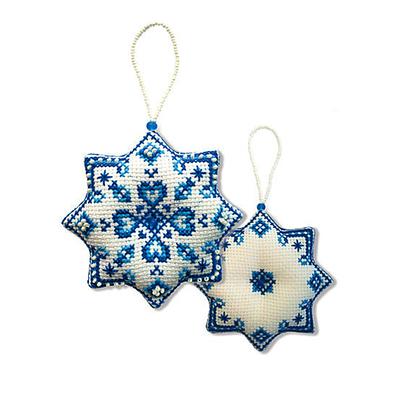 Набор для вышивания Zengana М-030 «Снежинка» 8,5*8,5 см в интернет-магазине Швейпрофи.рф