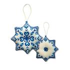 Набор для вышивания Zengana М-030 «Снежинка» 8,5*8,5 см