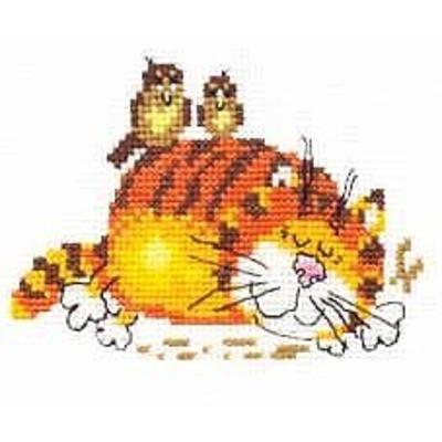Набор для вышивания Алиса 0-001 «Ленивый кот» в интернет-магазине Швейпрофи.рф