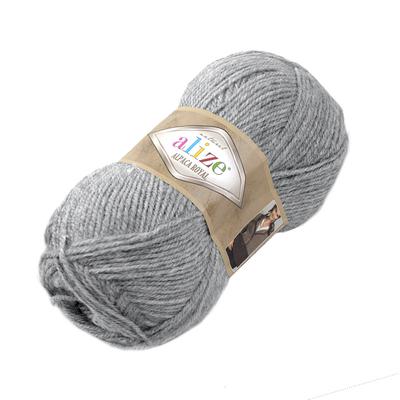 Пряжа Альпака роял (Alpaca Royal), 100 г / 250 м, 021 св.-серый в интернет-магазине Швейпрофи.рф
