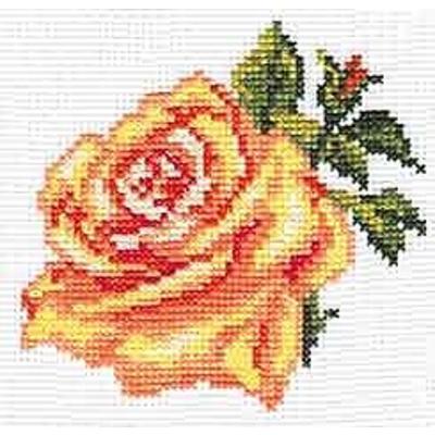 Набор для вышивания Алиса 0-041 «Роза» 10*10 см в интернет-магазине Швейпрофи.рф