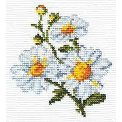 Набор для вышивания Алиса 0-042 «Ромашки» 10*11 см в интернет-магазине Швейпрофи.рф