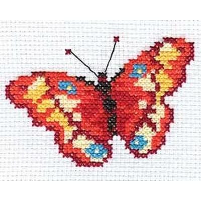 Набор для вышивания Алиса 0-043 «Бабочка» 10*7 см в интернет-магазине Швейпрофи.рф