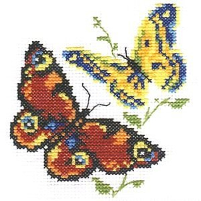 Набор для вышивания Алиса 0-050 «Бабочки-красавицы» 10*11 см в интернет-магазине Швейпрофи.рф