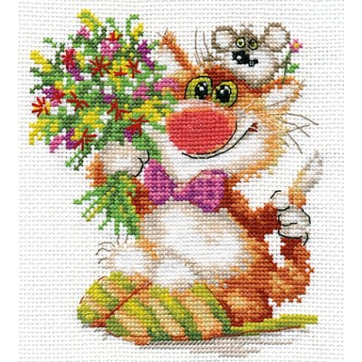 Набор для вышивания Алиса 0-108 «Спешим поздравить» 13*15 см в интернет-магазине Швейпрофи.рф