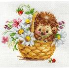 Набор для вышивания Алиса 0-113 «Ежик в ромашках» 13*11 см