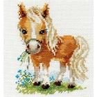 Набор для вышивания Алиса 0-114 «Белогривая лошадка» 12*14 см