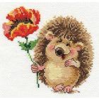 Набор для вышивания Алиса 0-116 «Ежик с маком» 14*13 см